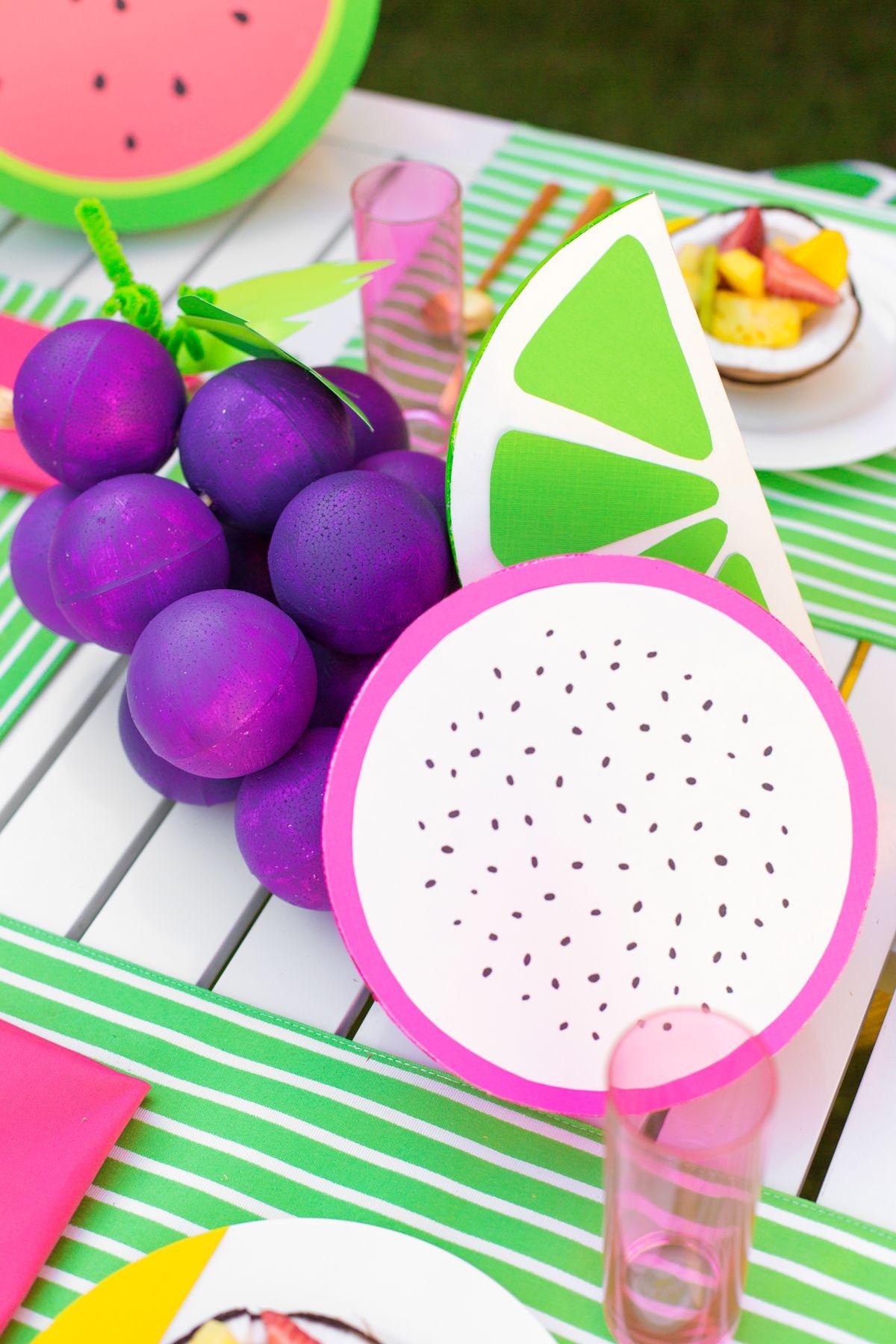 Diy giant foam fruit fruit diy projects to try