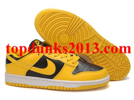 on sale bb412 3a327 Vintage Black Yellow Be True Nike Dunk Low High Quality