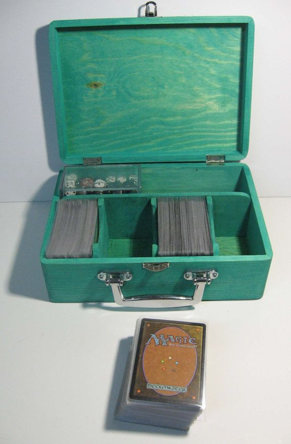 Customizable Wood Deck Box Mtg Yugioh Pokemon Trading Card Storage Deck Box Magic The Gathering Cards