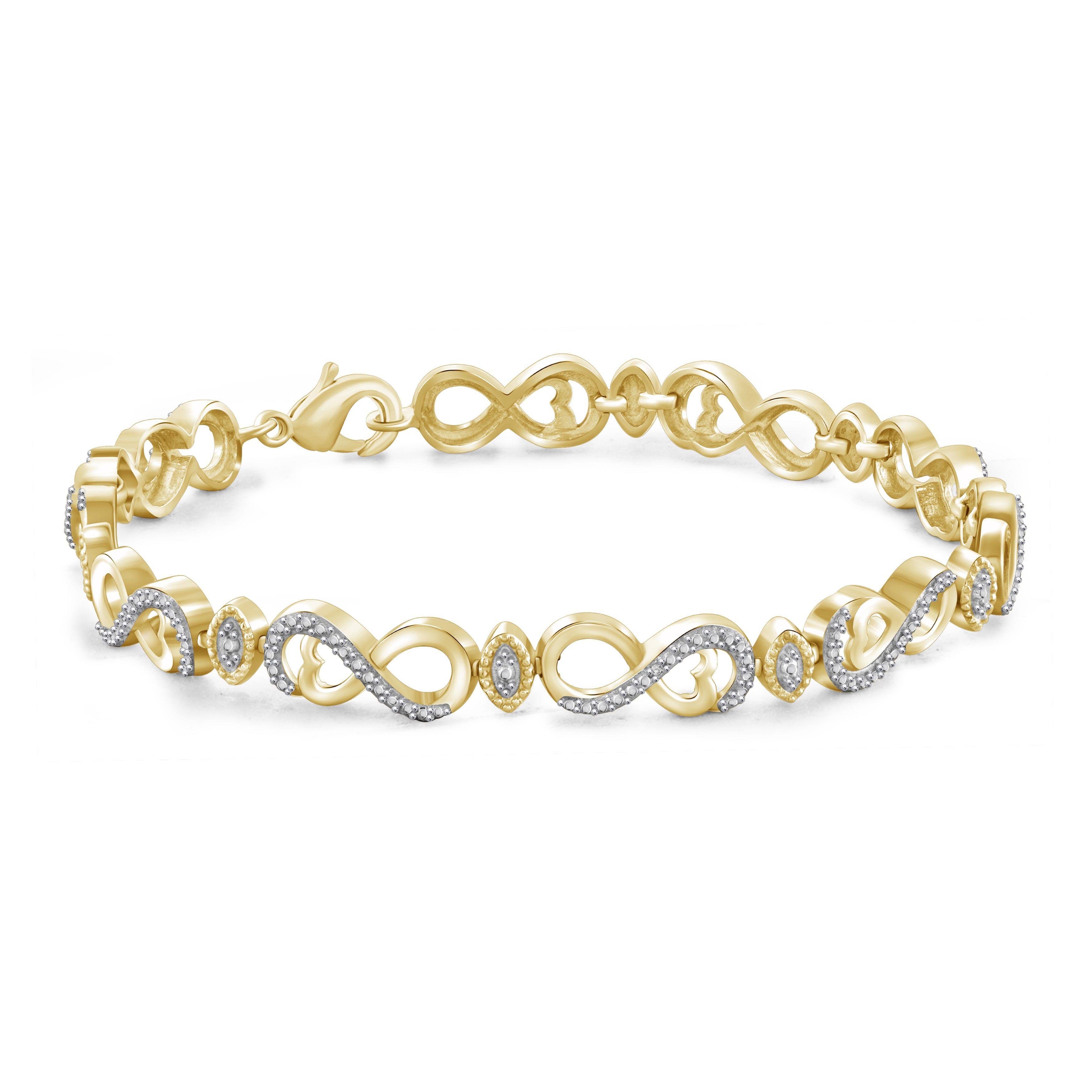 rose length zm with zirconia cubic adjustable gold itm k bracelet infinity