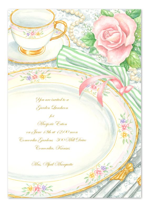 Elegant Tea Party Party Invitations By Invitation Consultants Cc Ee65b8j 227 Tea Party Invitations Tea Party Invitation Party Invitations