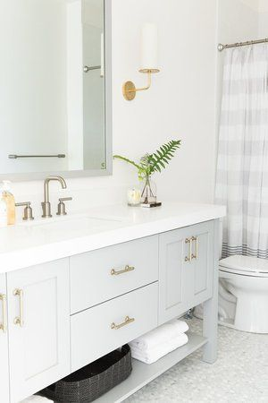 Luxury White Bathroom Floor Cabinet with Drawers
