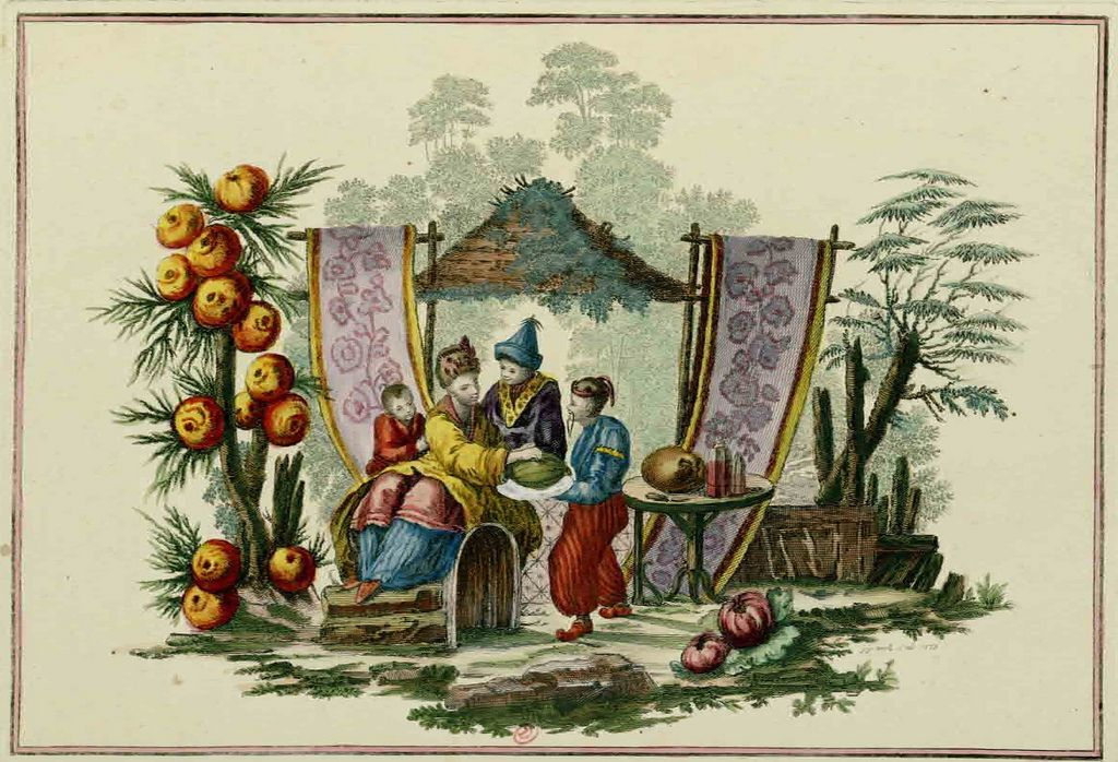 A collection of prints by Jean Pillement, published in 1767. Pillement was one of the most important artists of Chinoiserie, a style preferred by the French court that used oriental motifs as a starting place for laconic landscapes and fantastic architectures that floated on clouds of opium smoke. via Steve Shriver