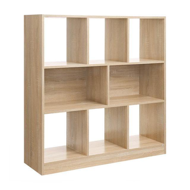 Photo of Libreria di Legno con Cubi Aperti e Ripiani Scaffale Autoportante e Armadio da Esposizione pe …