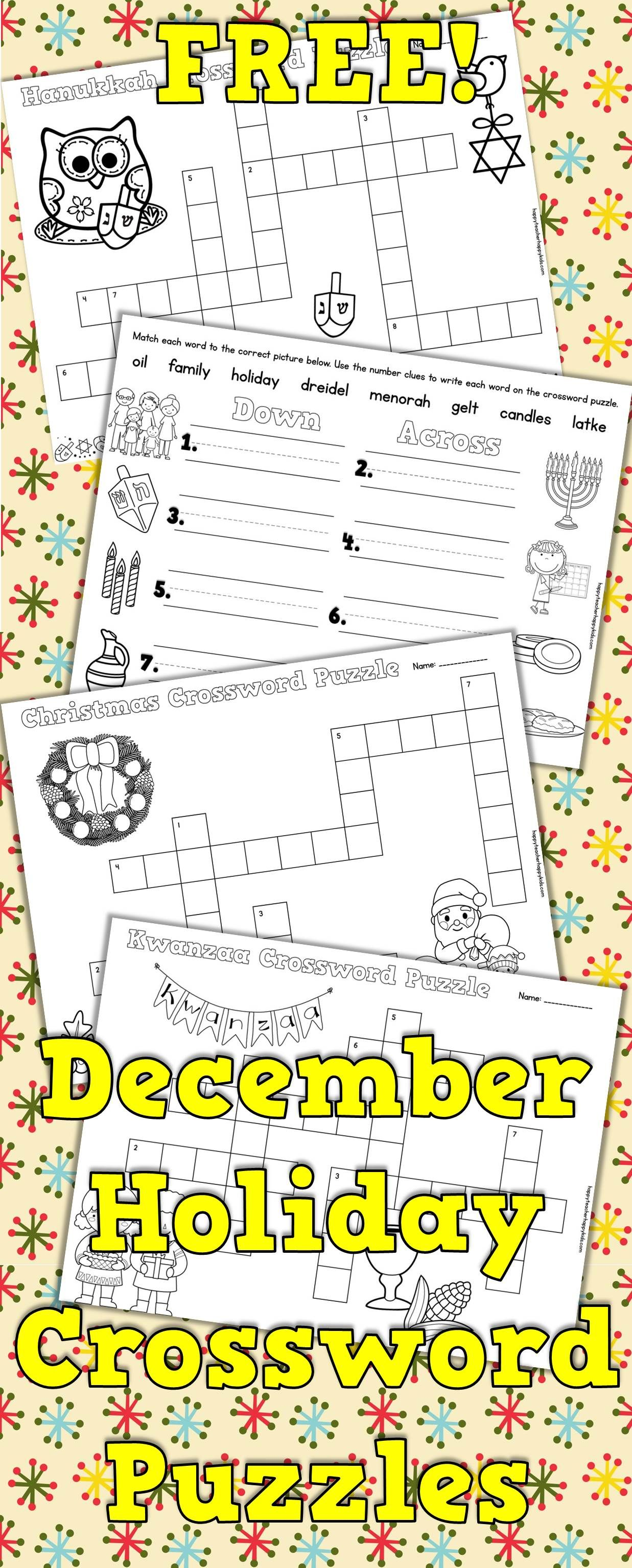 Crossword Puzzles December
