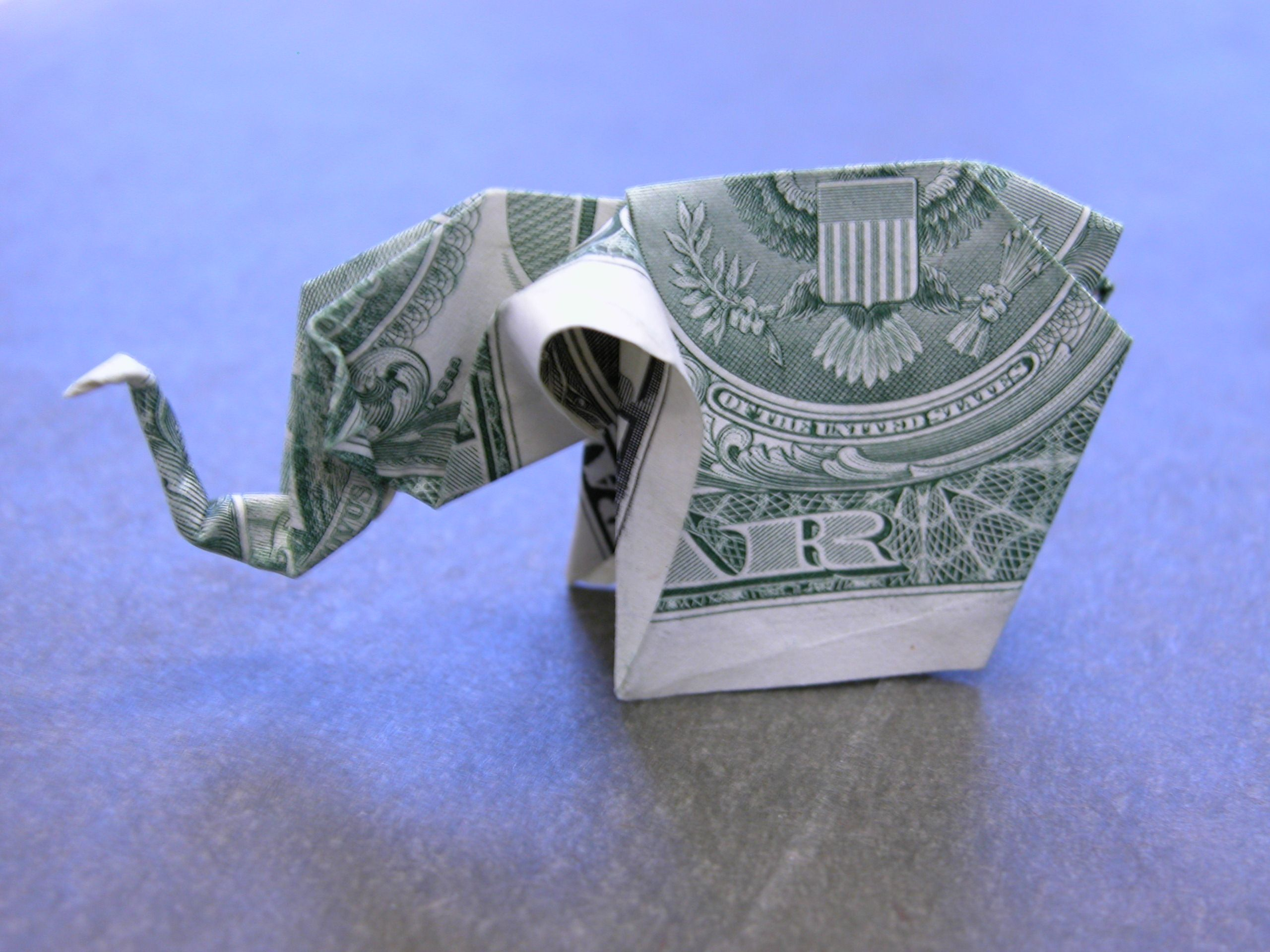 dollar money origami elephant money madness pinterest