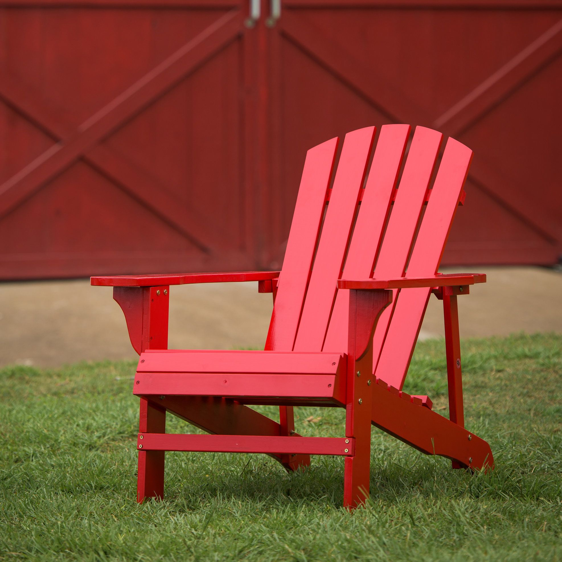 Lopes Plastic/Resin Folding Adirondack Chair (Set of 2