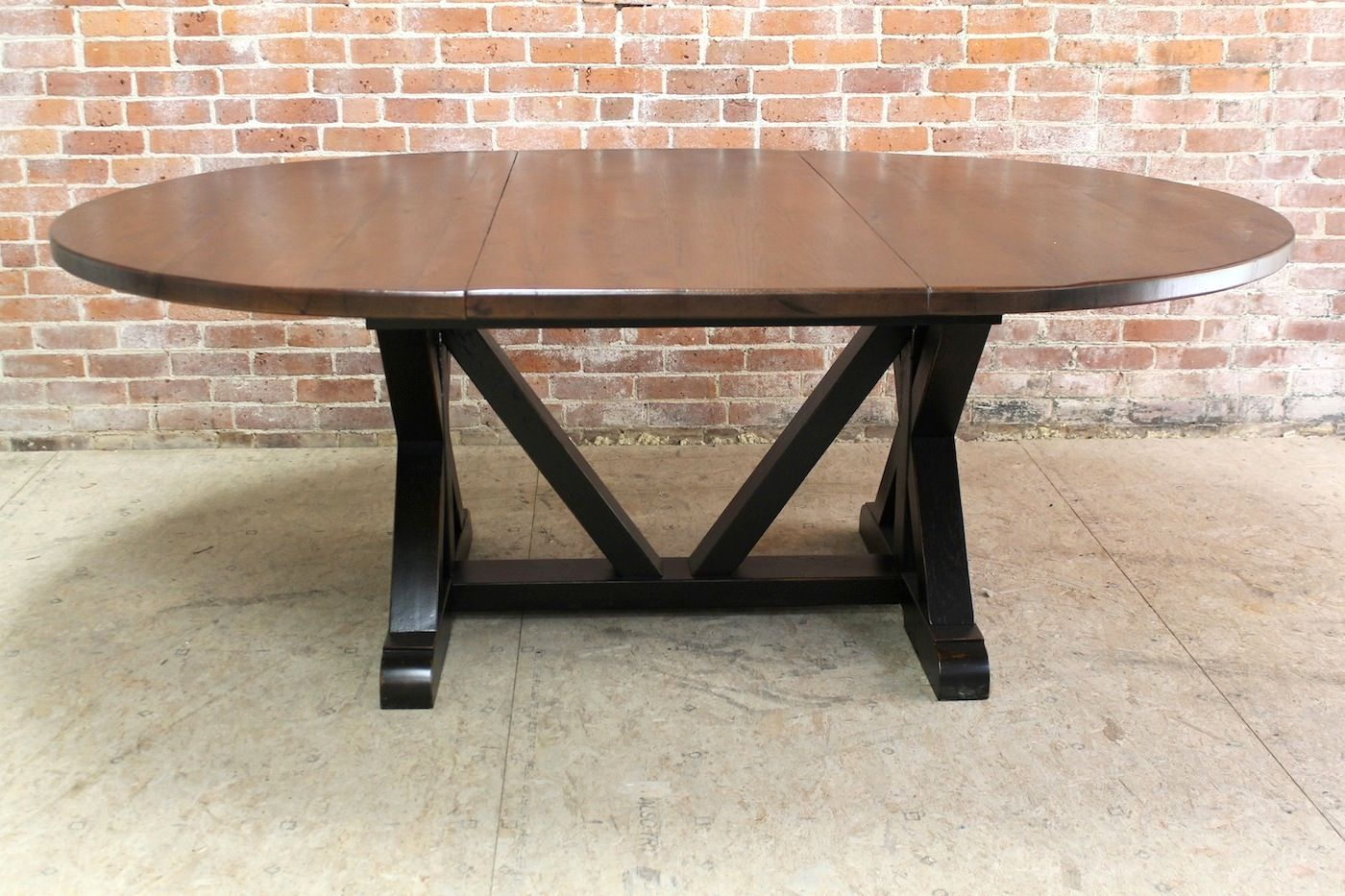 Round Table With Extension Hand Crafted By The Team At
