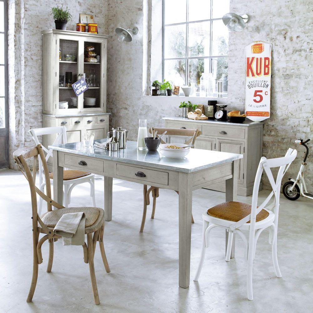Table à dîner ZINC | déco | Pinterest | Mesas