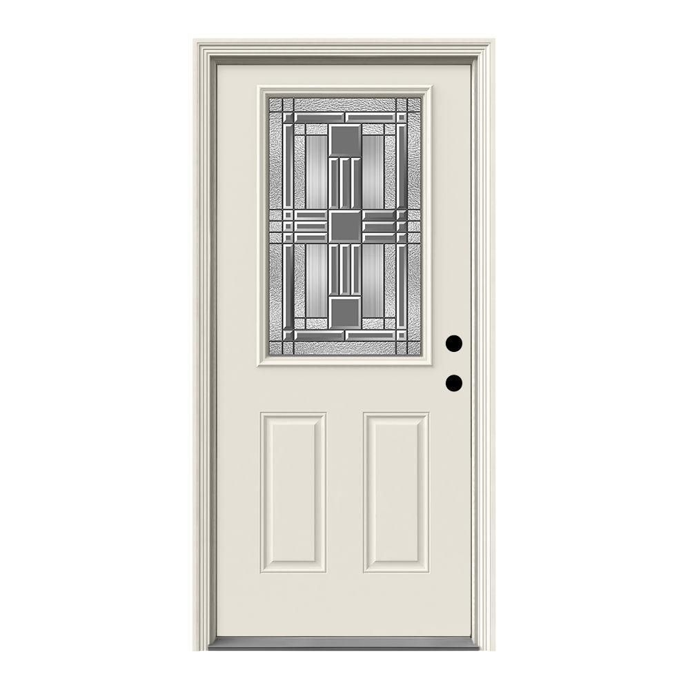 Jeld Wen 36 In X 80 In 12 Lite Cordova Primed Steel Prehung Left