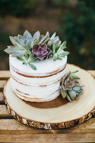 Hochzeitstorte Mit Echten Blumen Naked Cake Einstockig