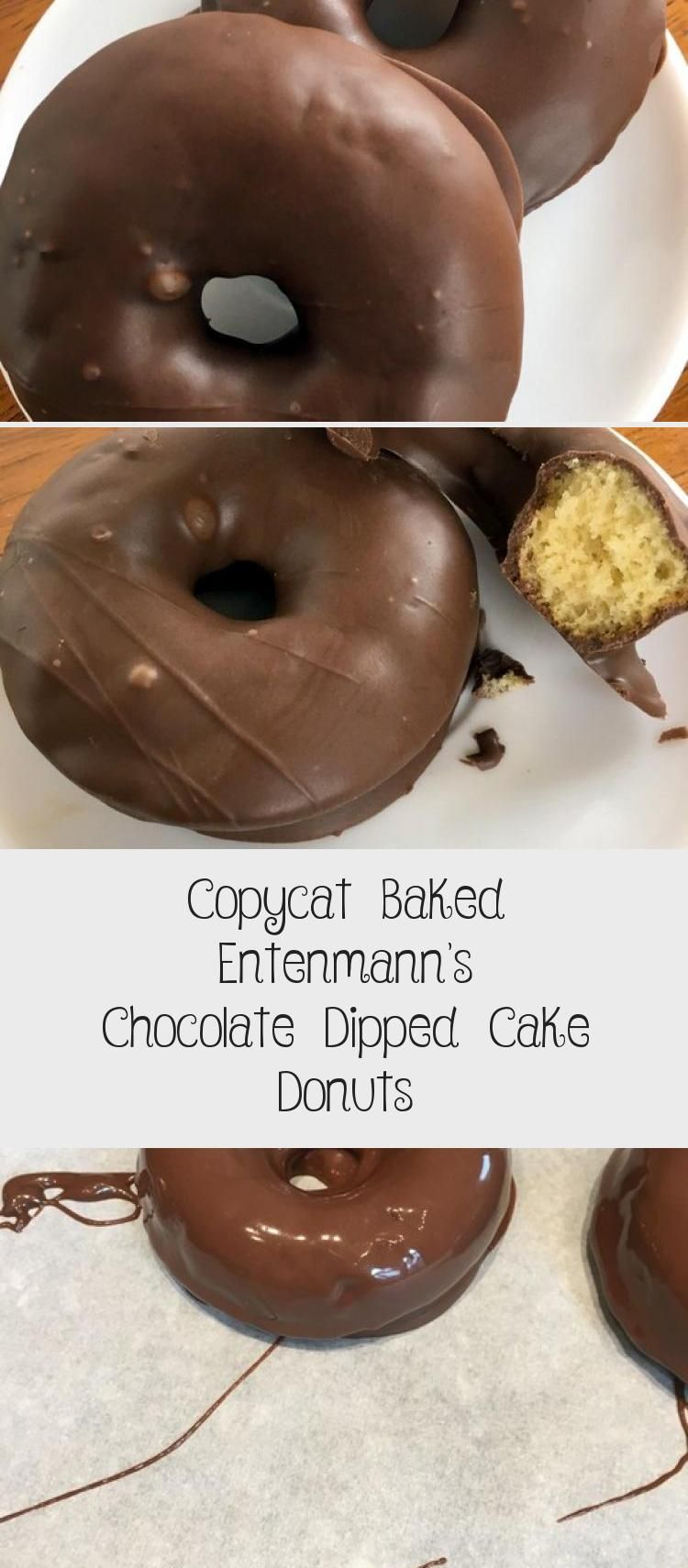 Copycat baked entenmanns chocolate dipped cake donuts