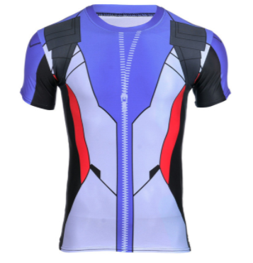 Design Compression Shirts | Overwatch Soldier 76 Game Design Compression Shirt Gamer S