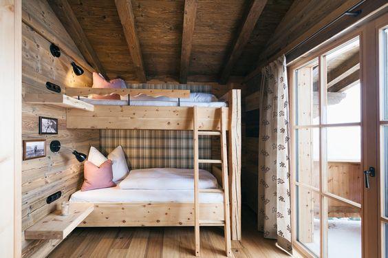 Schlafzimmer Des Luxus Chalet Sporer Alm In Tirol