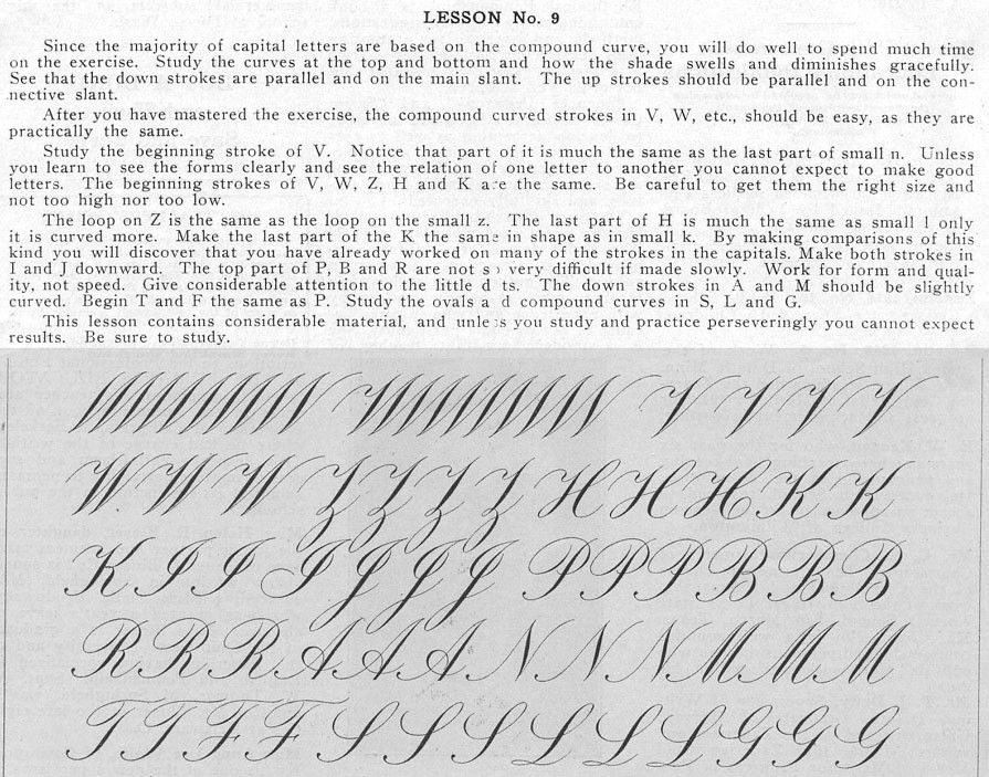 Roundhand or Engrosser's ScriptE.A. Lupfer<...