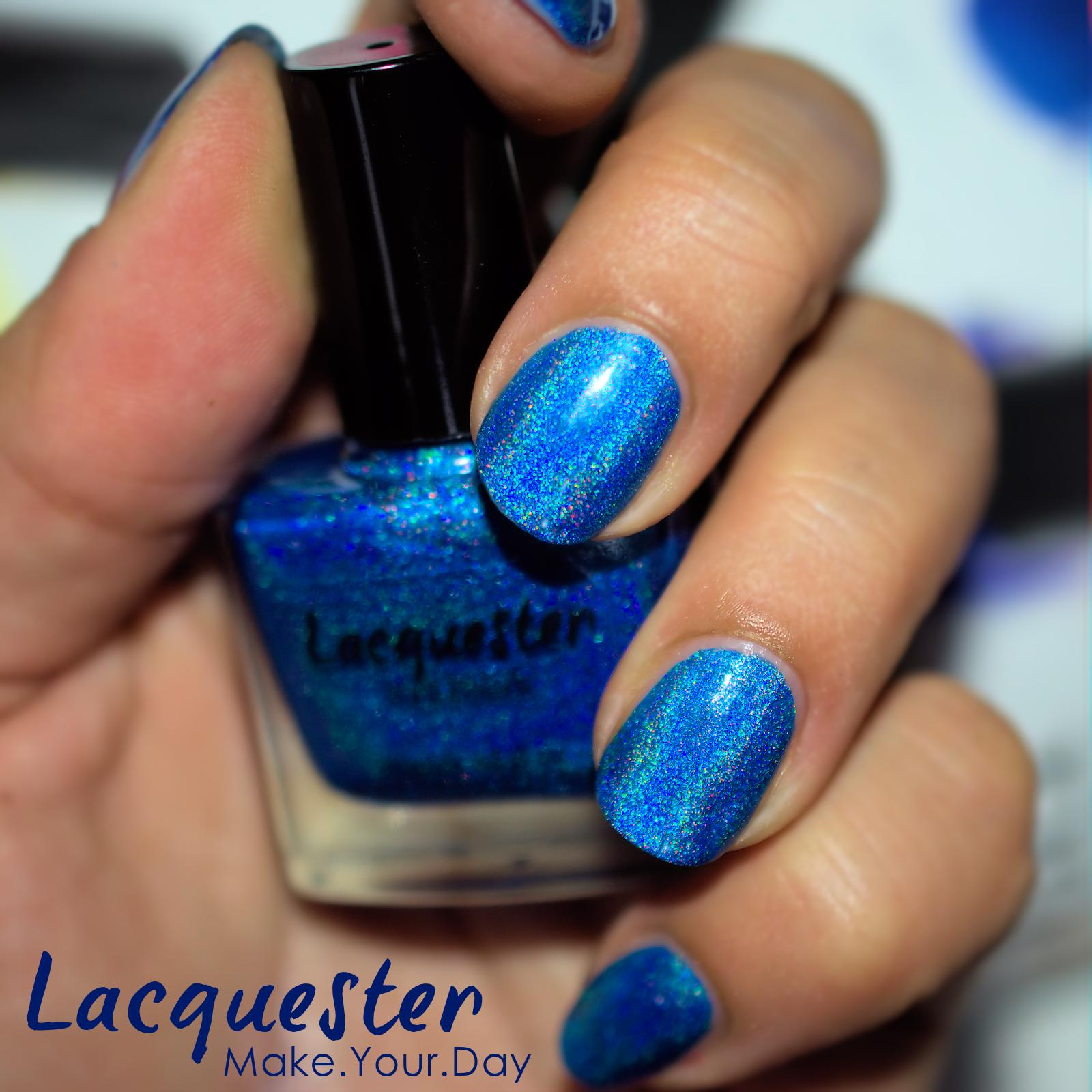 Bluetiful - bright blue extreme holographic nail polish - part of ...
