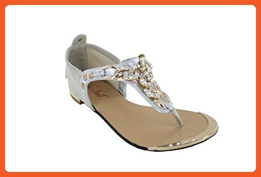2322f8efb147 Gorgeous Roman Goddess style sandal with gold Chain accents with bling -  Sandals for women ( Amazon Partner-Link)
