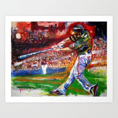 Sport Art - Baseball by Yossikotler #art #commission #flyrice