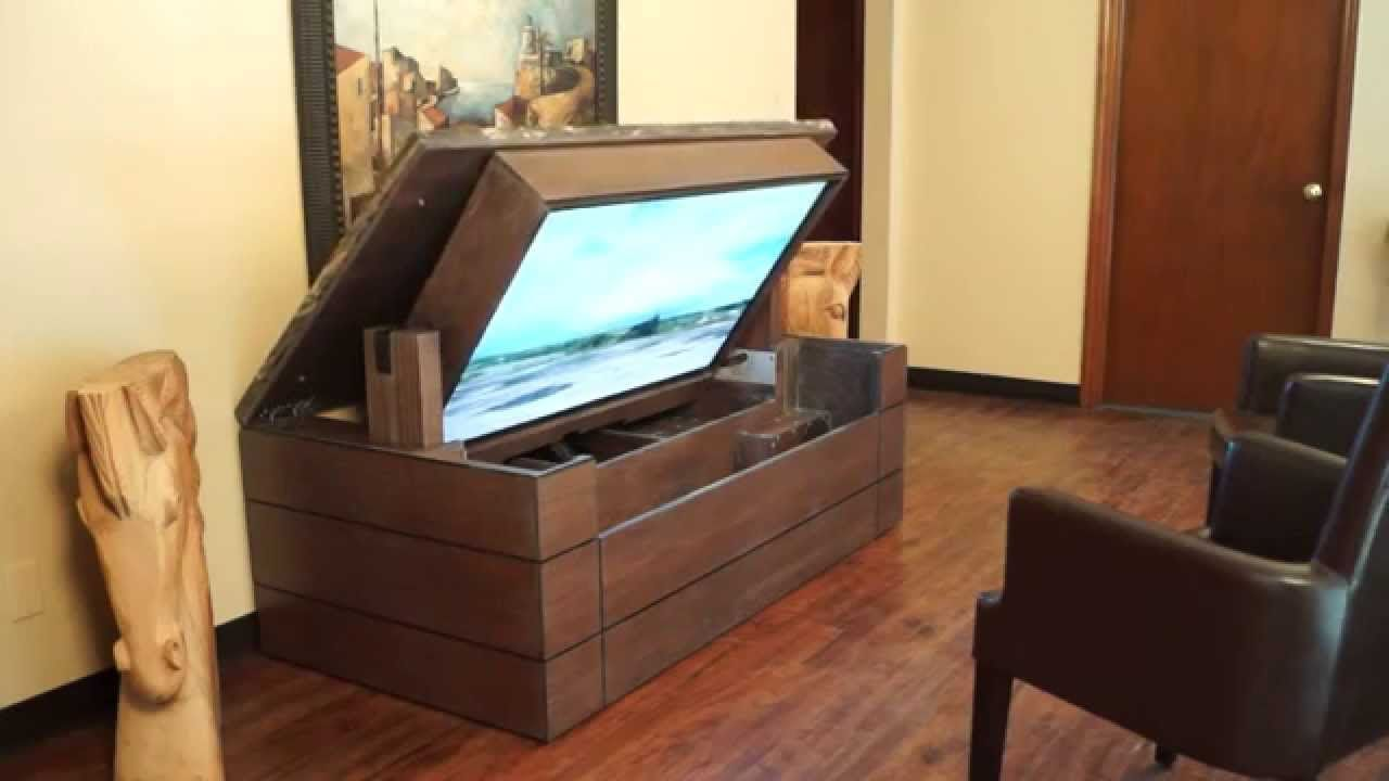 American Tv Lift Cabinet Unique Handcrafted Low Profile Granite