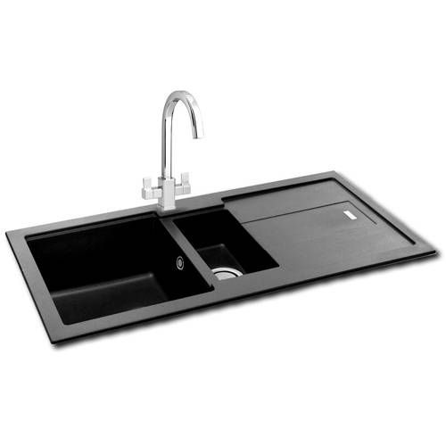 Carron Phoenix Bali 150 Double Bowl Granite Inset Kitchen Sink In
