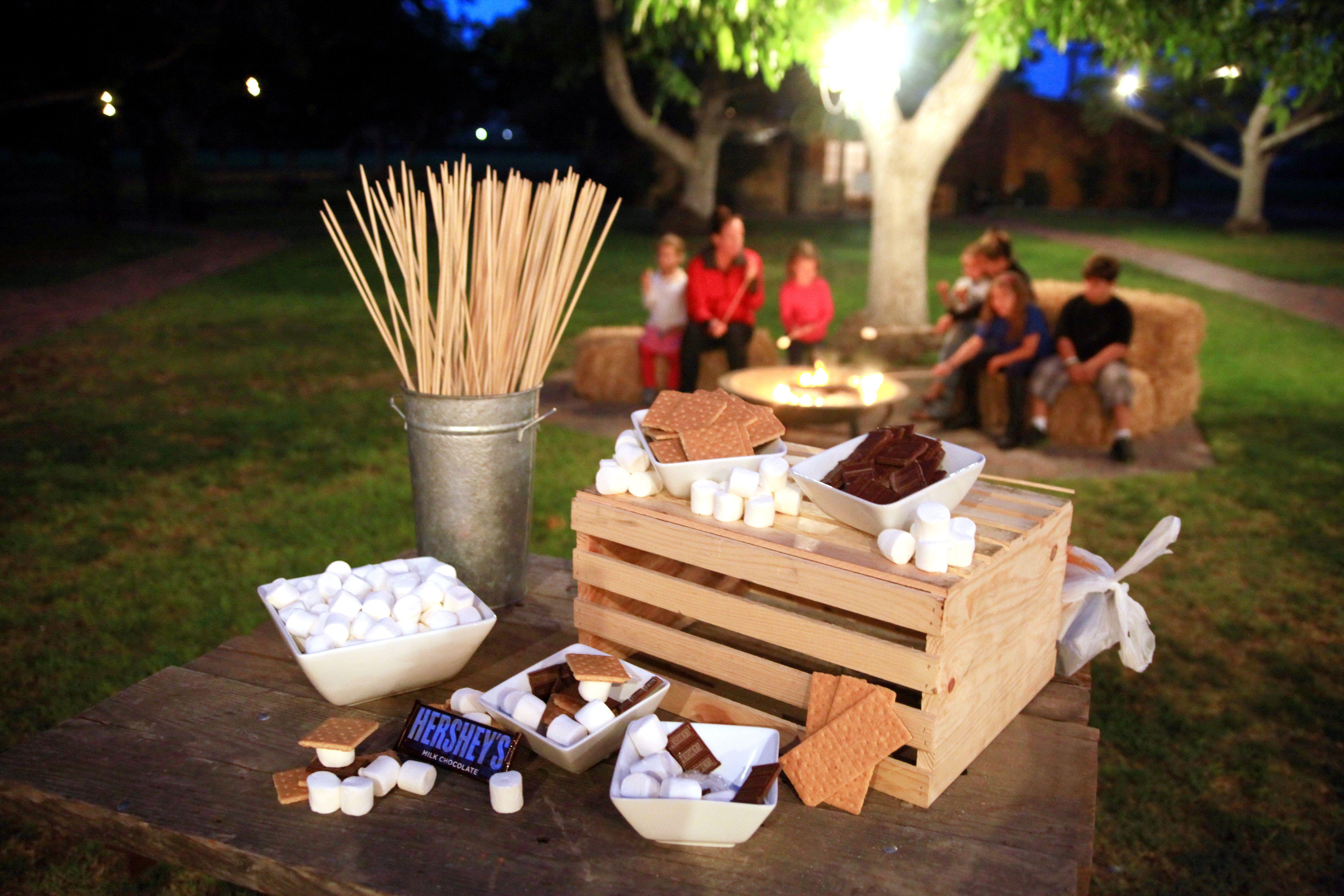 A S'mores Station For Outdoor Wedding Ideas. Creates A