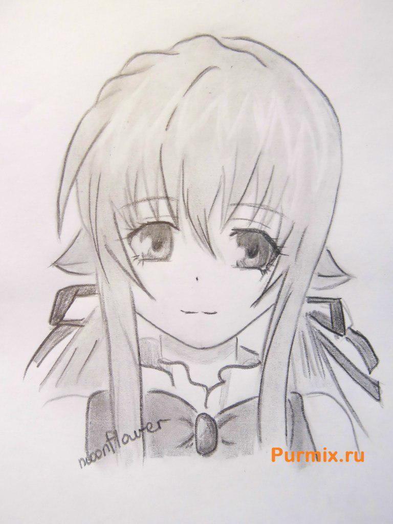 Kak Narisovat Ruru Iz Anime Monohromnyj Faktor Karandashom Anime