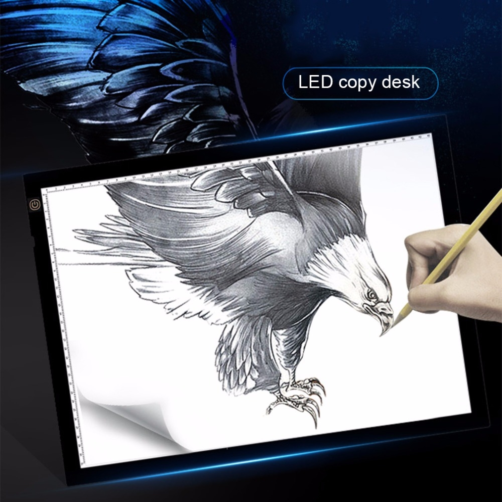 48.66$  Watch now - A3 Portable LED Drawing Board Eyesight Protection Touch Dimmable Tracing Table Light Pad Box for 2D Animation Sketching  #aliexpressideas