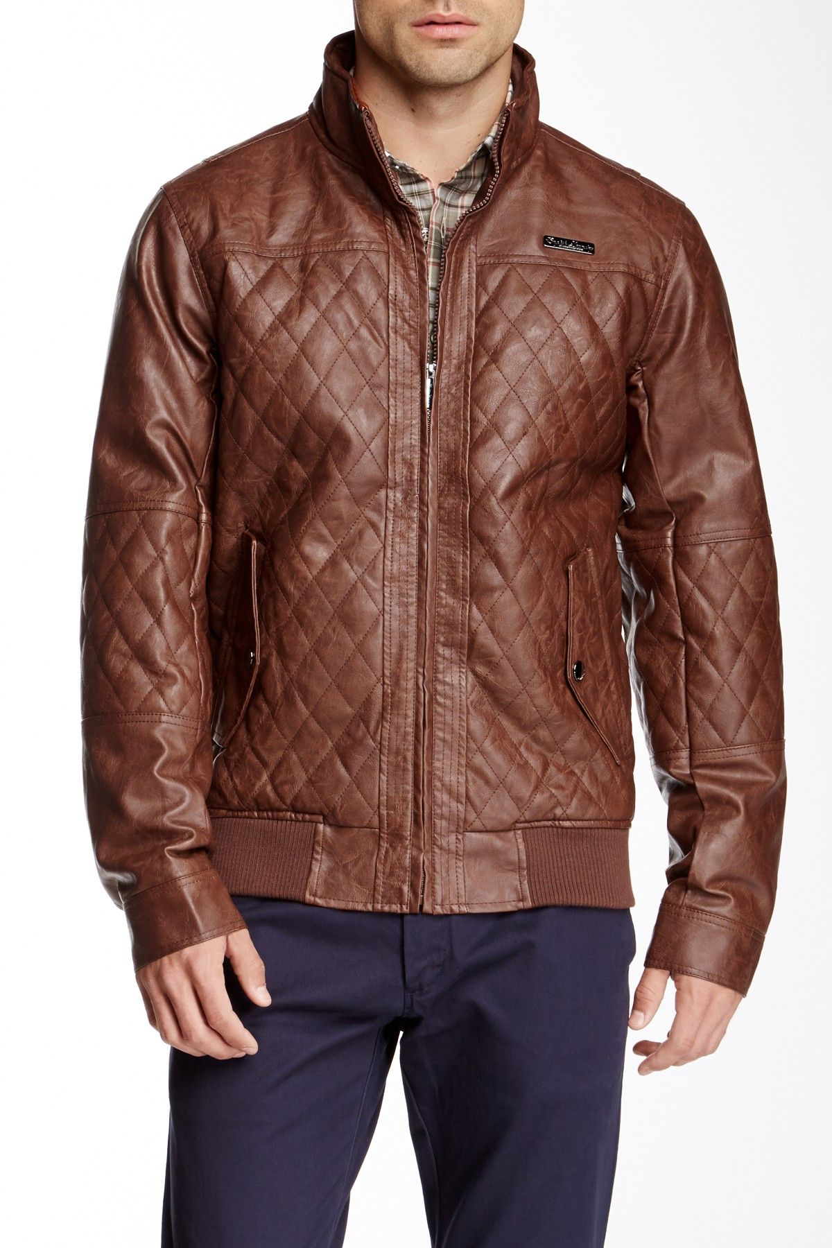 English Laundry Quilted Faux Leather Jacket