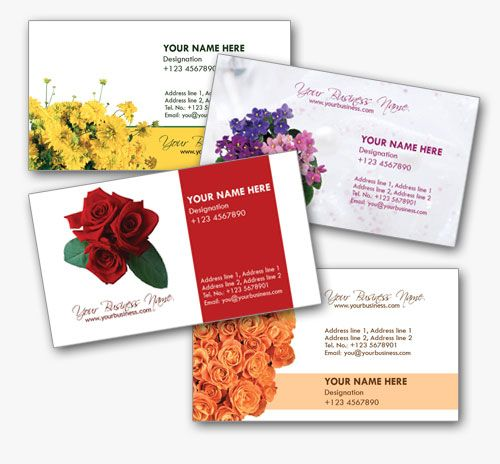 4 stylish florist business cards templates endroits visiter 4 stylish florist business cards templates flashek Images