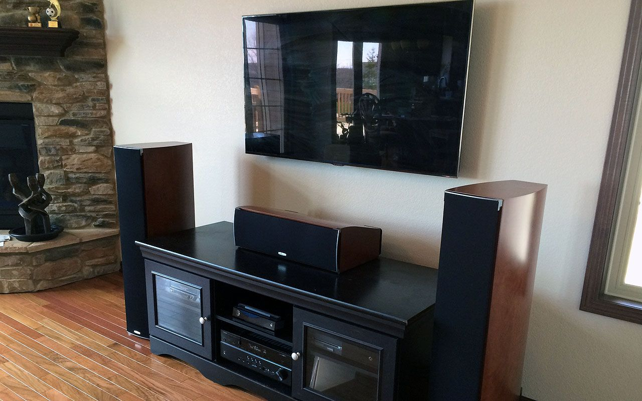 Position Speaker Besides The Tv Set Room Seating Home Theater Setup Diy Play Kitchen Living room speaker placement