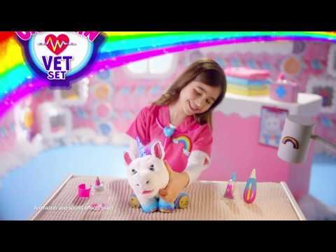 Little Live Rainglow Unicorn Vet Set 30 Youtube Vets