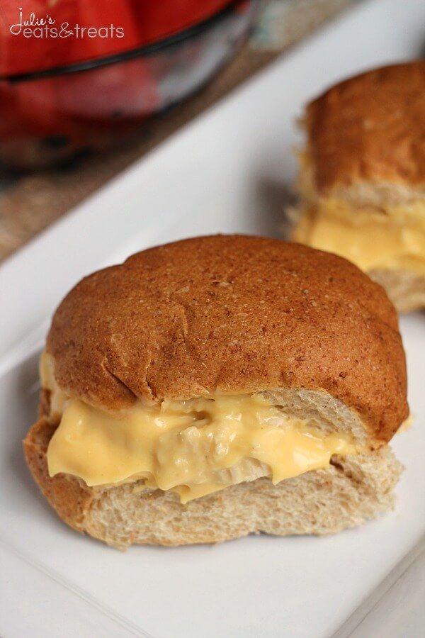 Easy Cheesy Chicken Sandwiches ~ http://www.julieseatsandtreats.com