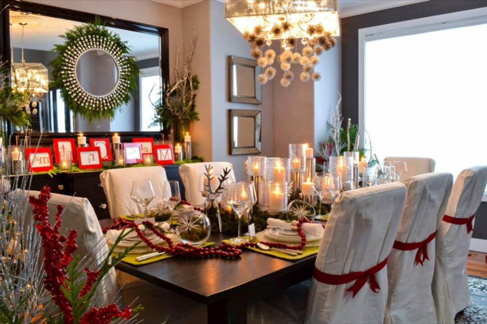 Christmas Dining Room Table Decoration Ideas