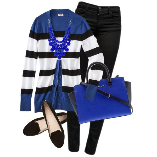 Striped Cardigan and Michael Kors