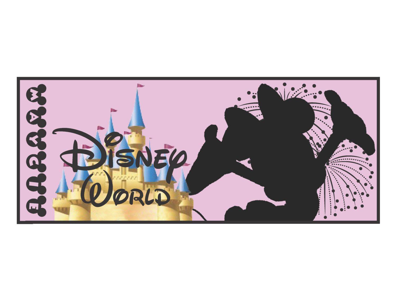 Disney Tickets. $8.00, via Etsy.