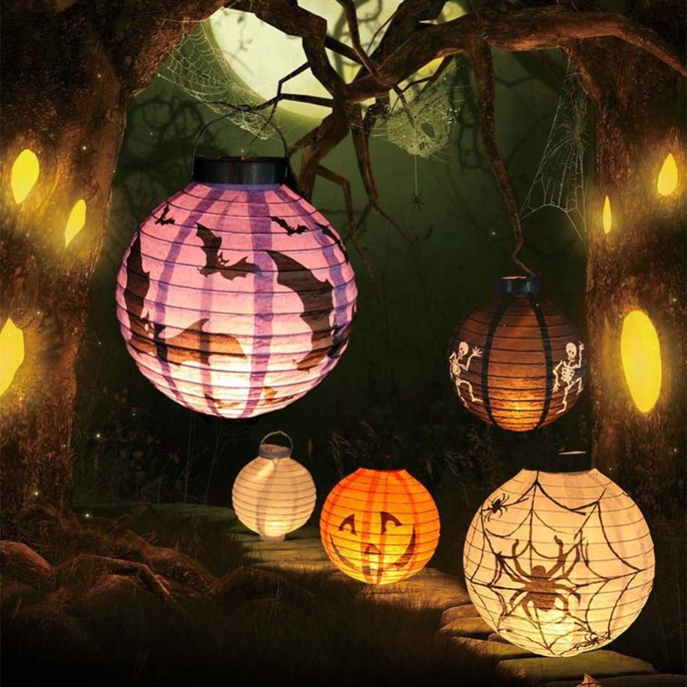 New Halloween LED Paper Pumpkin Hanging Lantern DIY - Holiday Party - diy halloween decorations scary
