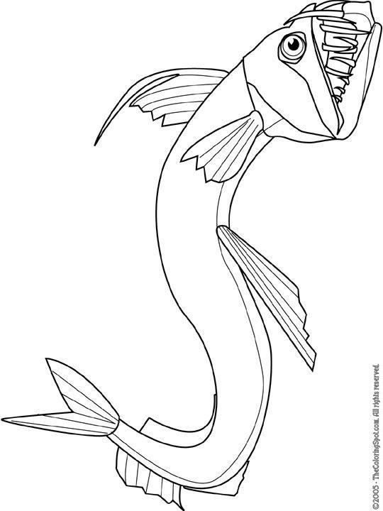 Viperfish Angler FishFree ColoringColoring PagesOcean LifeMarine LifePreschool