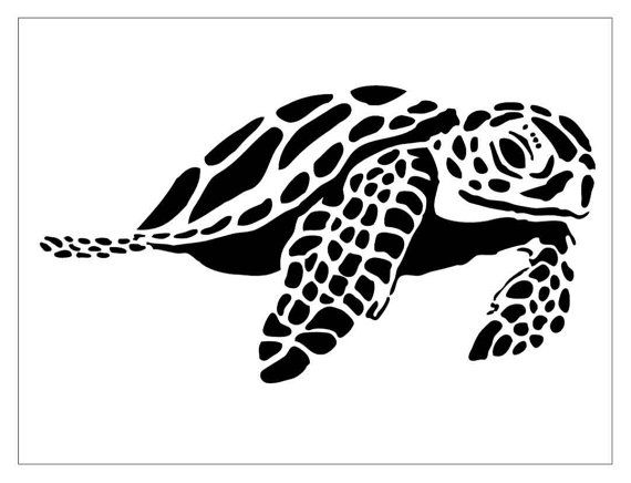 Photo of Items similar to SEALIFE11 Reusable Laser-Cut Stencil Sea Turtle on Etsy