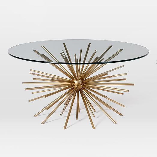 Starburst Coffee Table Table Basse Verre Table Basse En Laiton