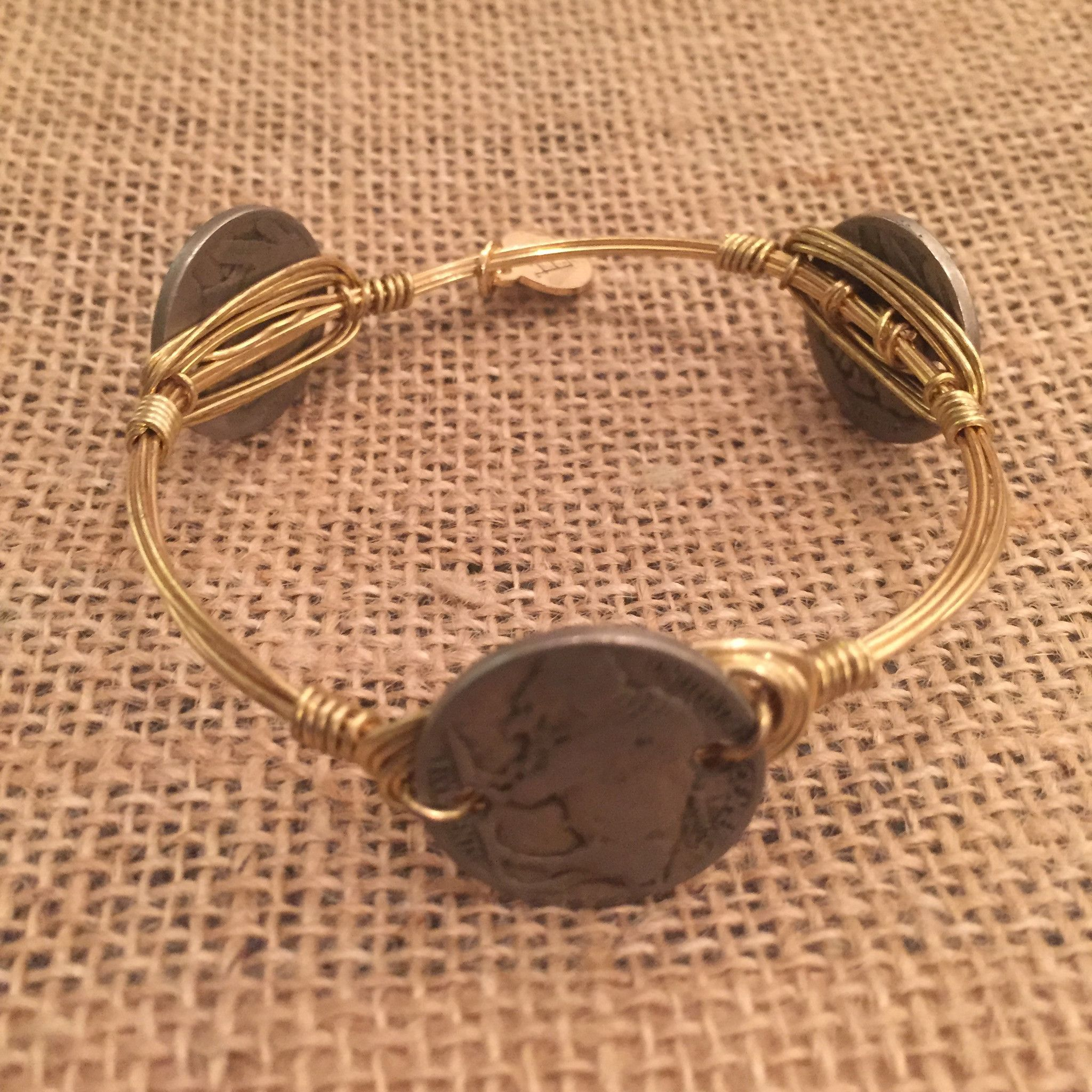 Bourbon and Boweties Buffalo Nickel Bangle Standard Wrist