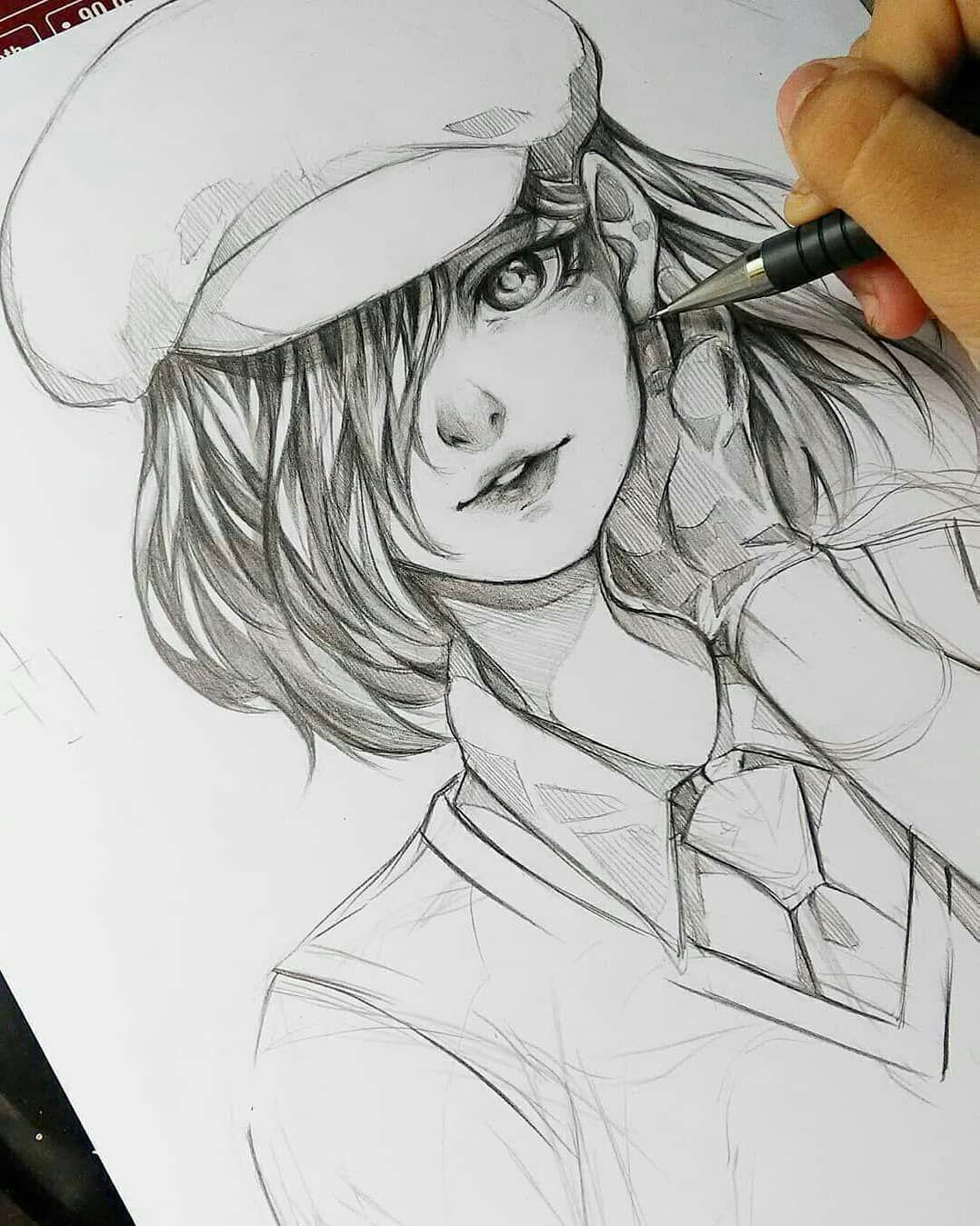 Pencil manga drawing 🌸 🍫 🍰 🍪 🍬follow dokuu