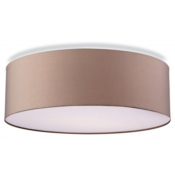 Contemporary flush ceiling light in taupe finish lighting the lighting collection phoenix contemporary flush ceiling light in taupe aloadofball