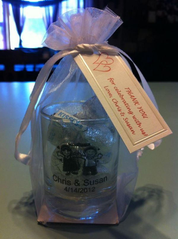 Personalized Shot Glass Favors In 2019 Homemade Wedding