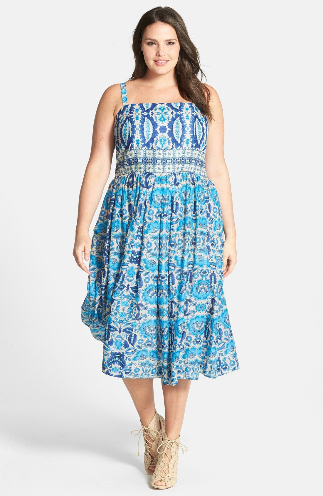 f69d1a0843 Taylor Dresses Floral Print Sundress (Plus Size)
