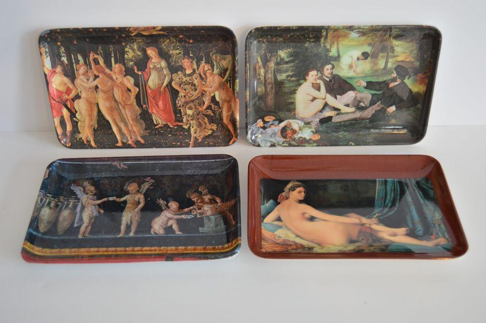 Italian Art Melamine snack trays Made in Italy Mebel 4 X 6 inch plastic nude