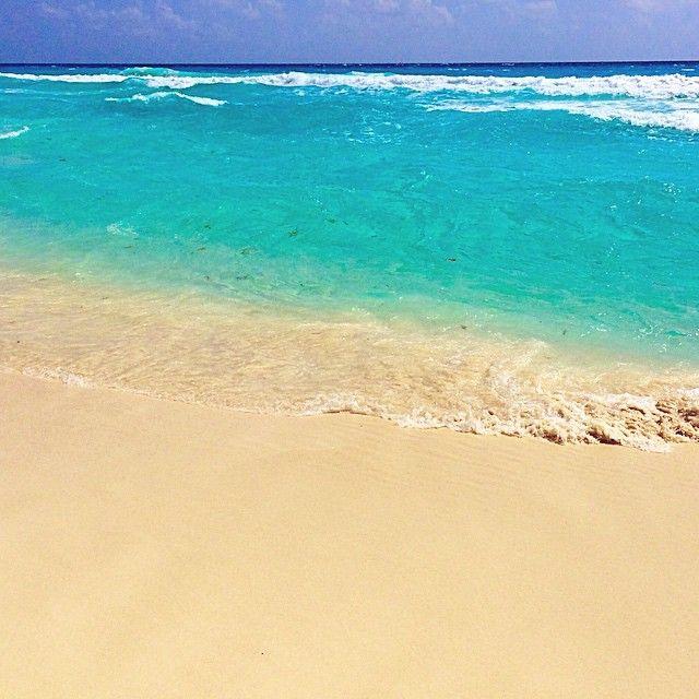 beautiful beach in cancun mexico hdr sky