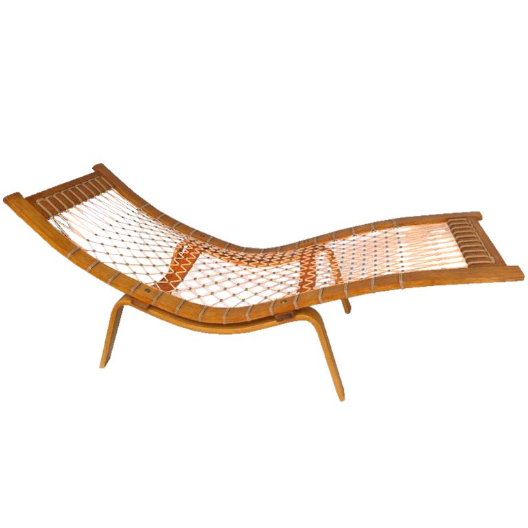 hans wegner 39 hammock 39 chaise longue hammock chair hans wegner and mid century. Black Bedroom Furniture Sets. Home Design Ideas