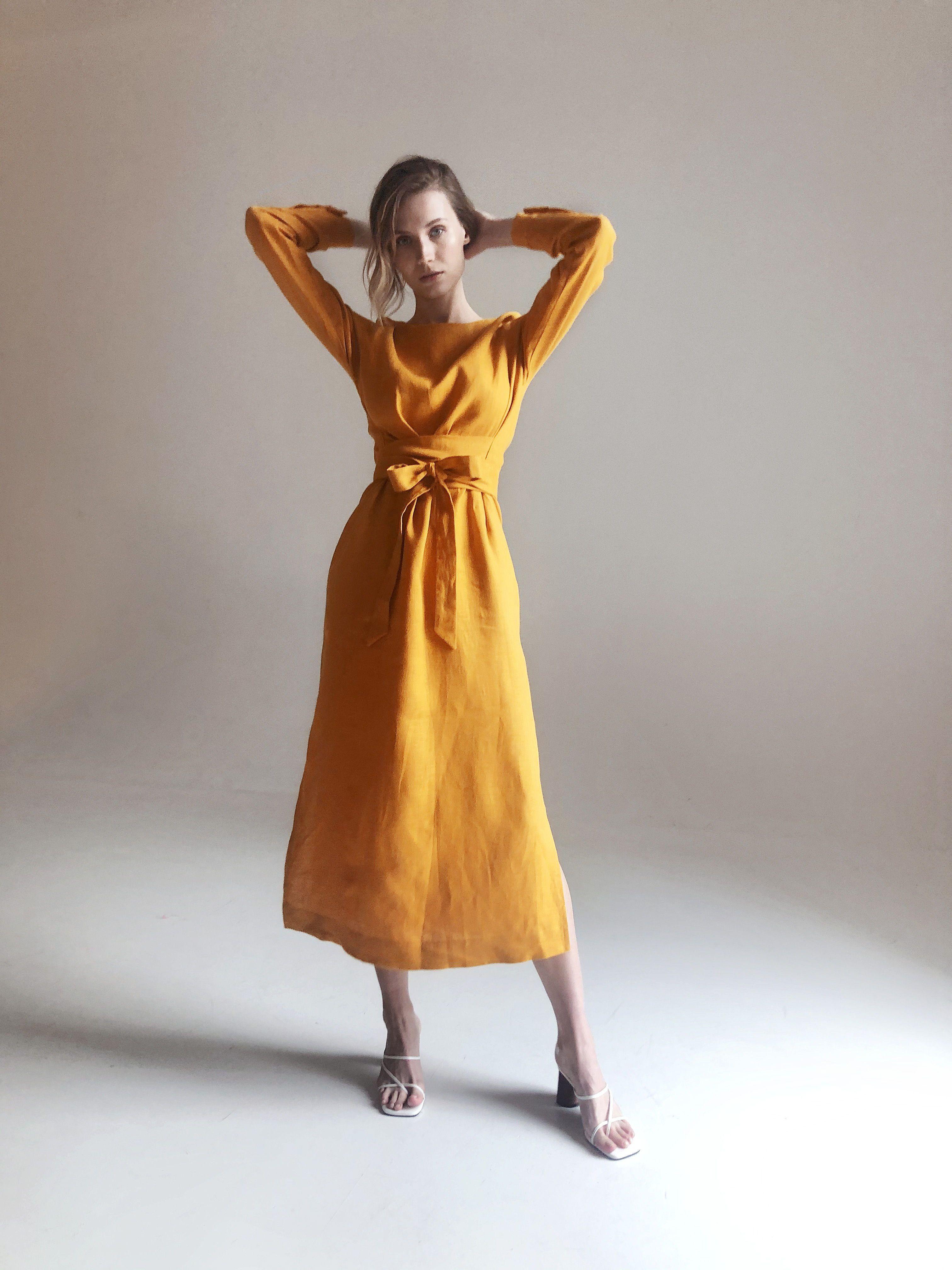 Linen dresses for women Summer dress. Linen dress Long linen dress Wrap linen dress Linen dress Boho dress Bridesmaid dress