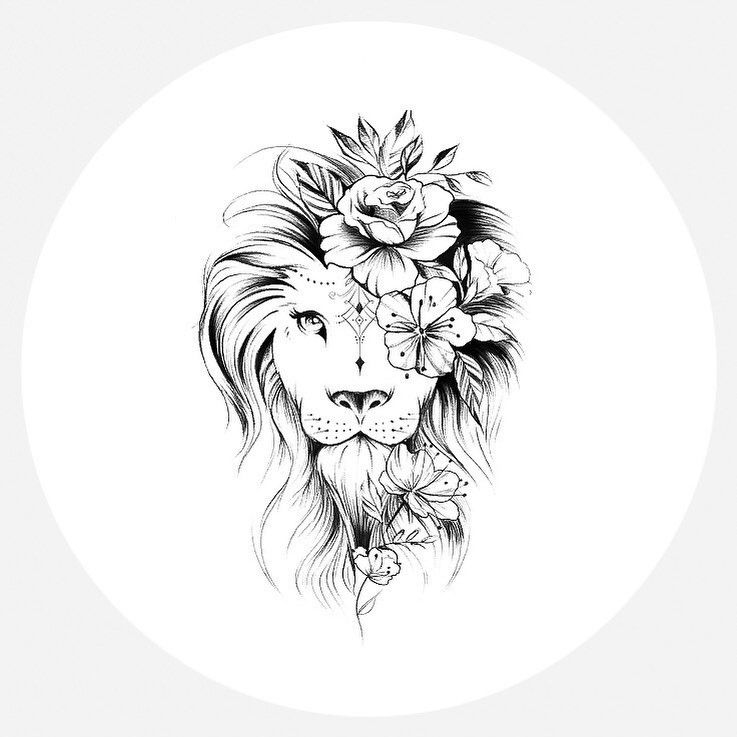 Tattoo Hip Lion Ink 25 Ideas Hip Tattoo Mandala 0