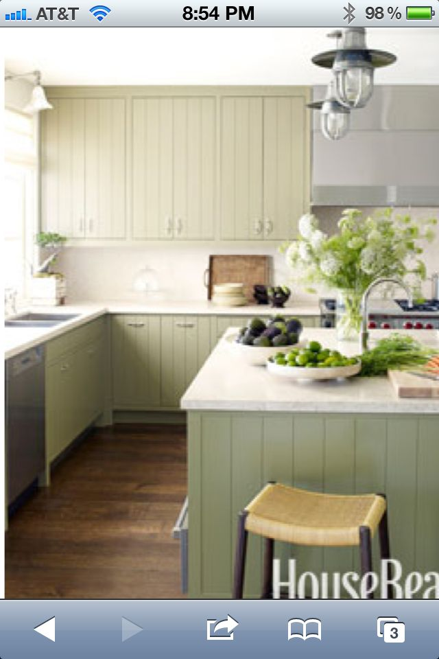 Pale Green Kitchen Http://www.housebeautiful.com/_mobile/decorating